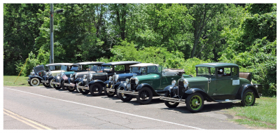 Some of the member Model A's on-site